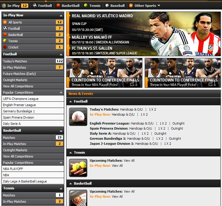 Find great betting options at the 188bet website!