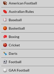 The Sports Selection of 21Bet