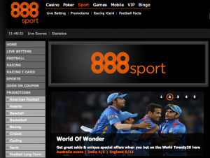 can you play football through the 888sport site