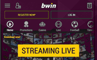 Watch live events with the Android app of Bwin!