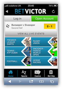 how to use live streaming with the betvictor app