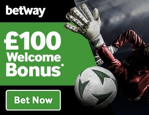 How big is the welcome bonus at the Betway operator?