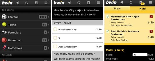 How to operate the Bwin Android application?