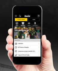 what are the options for registration at bwin via mobile