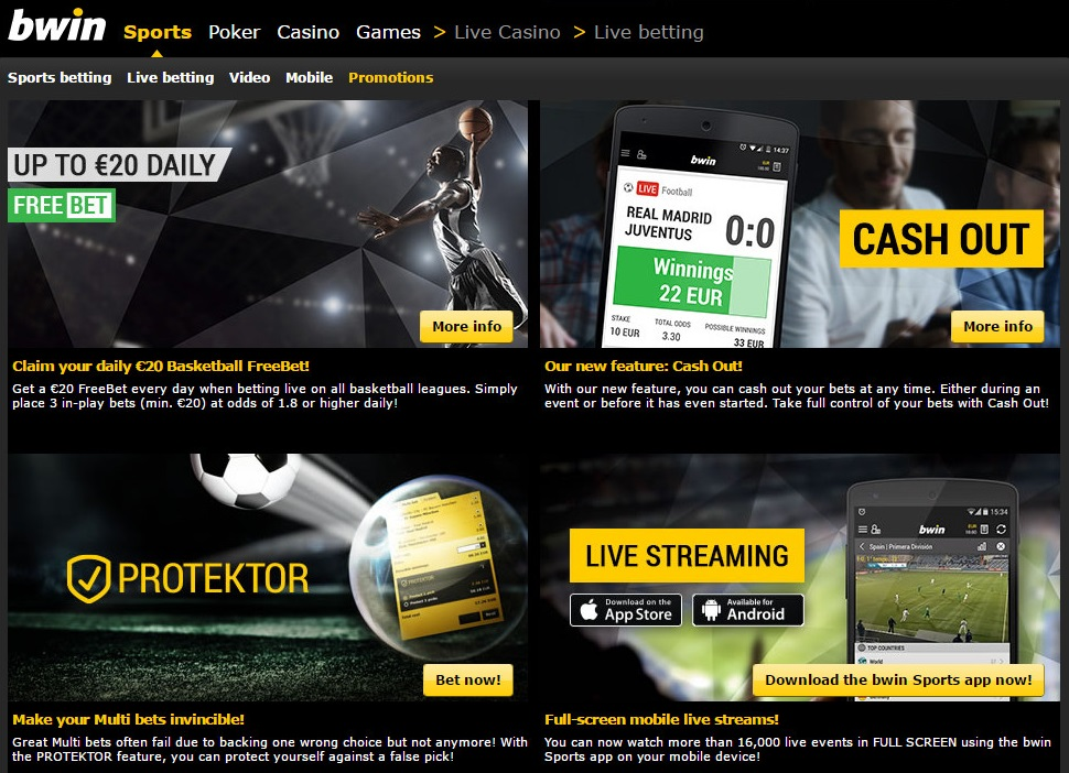 find all about the bwin promotions and bonuses