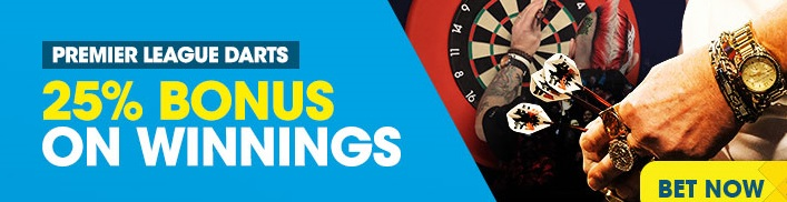 Find about the Darts Bonus at Betbright review!