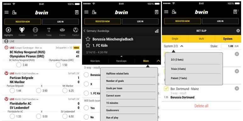 Is it hard to use the iOS app of the Bwin site?