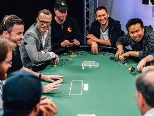 Why did the LCS executives play in a poker tournament?
