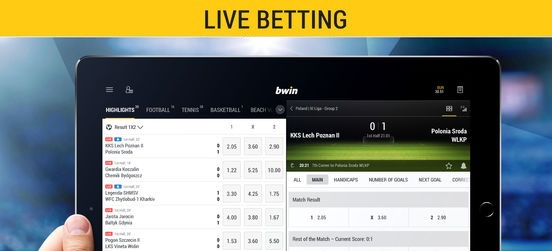 Can you make live bets with Bwin iOS application?
