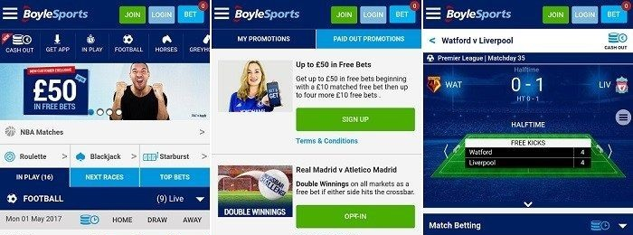 Check out the navigation of the Boylesports app!