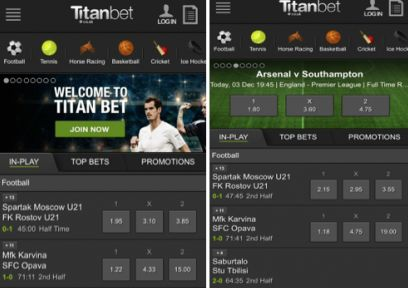 Review the iPhone betting application of Titanbet!