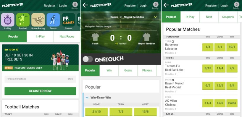 User experience regarding the Paddy Power Android navigation!