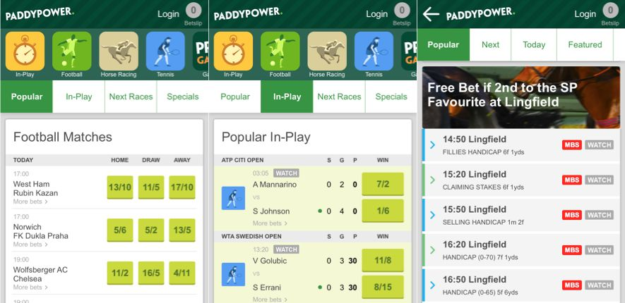 What is the biggest advantage of the Paddy Power iPhone app?