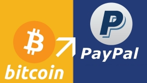 PayPal doesn't accept Bitcoin payments.