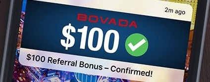 Get a bonus by sending Bovadas link to a friend!