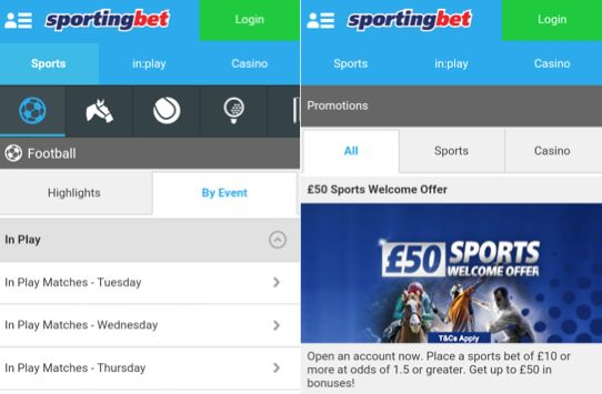 Which Android devices are suitable for the Sportingbet app?