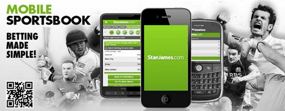 does the stan james mobile app include live streaming