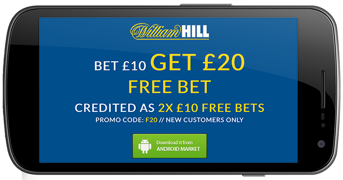 can you get a mobile bonus with the william hill app