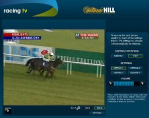 can you get live streaming with william hill