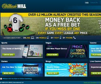 what are the promotions at the william hill site